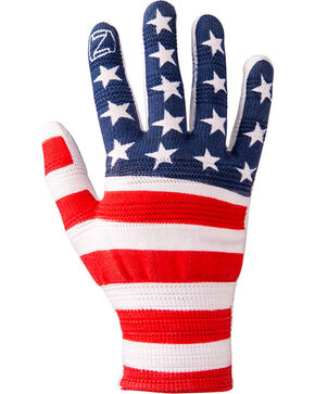 Noble Outfitters Men's True Flex American Flag Roping Gloves, Multi, hi-res