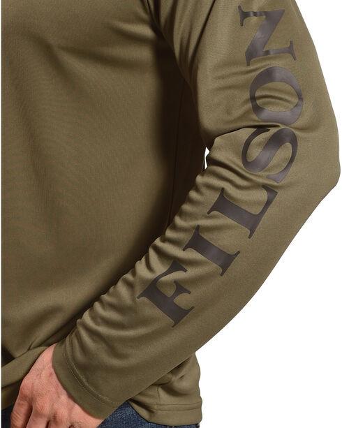 Filson Men's Olive Green Long Sleeve Barrier T-Shirt, Olive, hi-res
