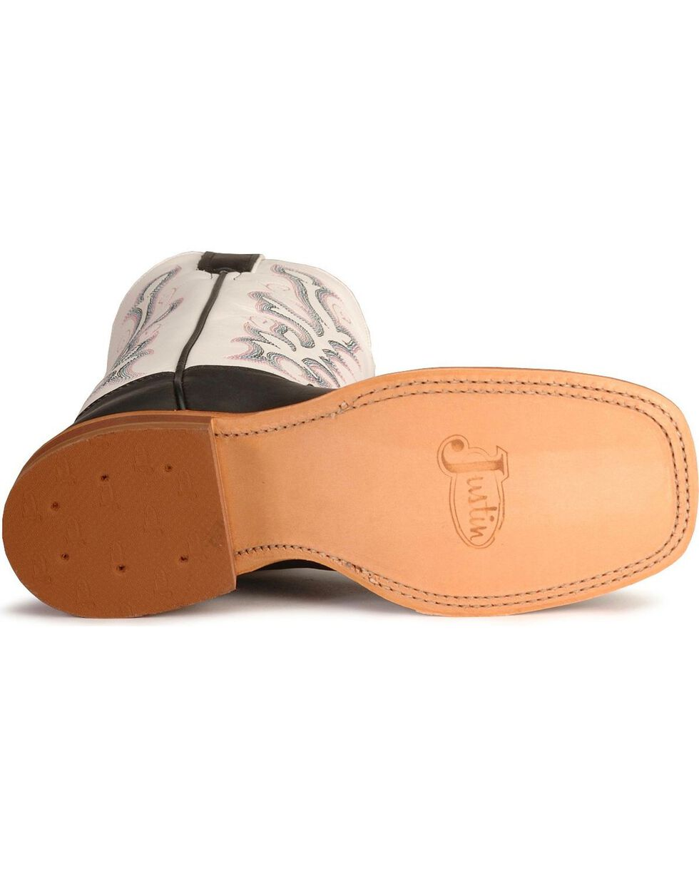 "Justin Women's 13"" Bent Rail Western Boots, Black, hi-res"