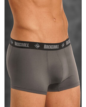"Rock and Roll Cowboy Men's Charcoal 3"" Boxer Briefs , Charcoal Grey, hi-res"