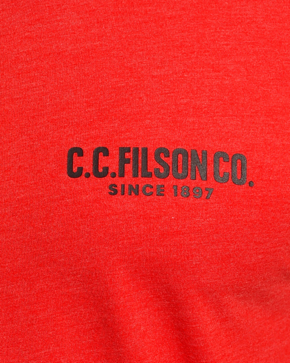 Filson Men's Red Buckshot T-Shirt , Red, hi-res