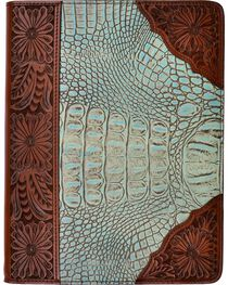 3D Gator and Leather Tooled Tablet Case, , hi-res