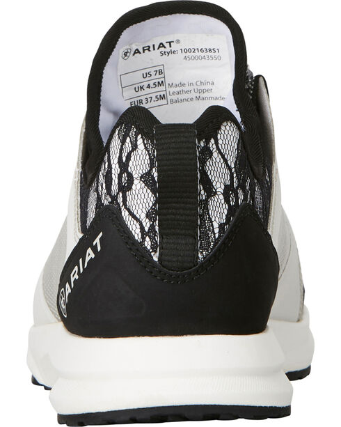 Ariat Women's Fuse Black Lace Mesh Shoes , Black, hi-res