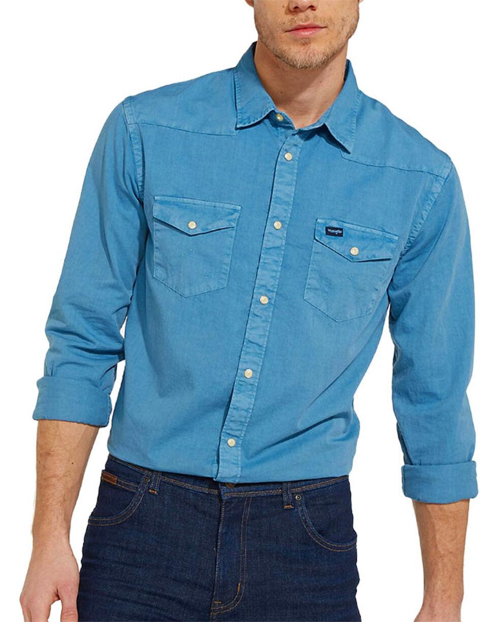 Wrangler Men's 70th Anniversary Long Sleeve Slim Fit Solid Shirt, , hi-res