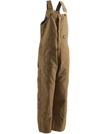 Berne Brown Duck Deluxe Insulated Bib Overalls - Tall, , hi-res