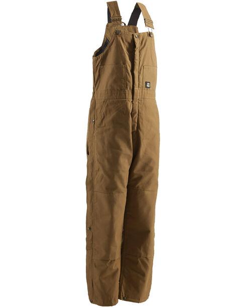Berne Deluxe Insulated Bib Overalls - 1XShort, Brown, hi-res