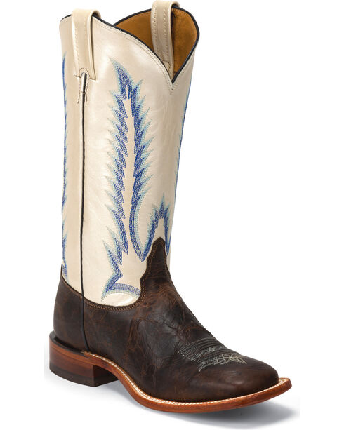 Tony Lama Women's Iron Shiloh San Saba Western Boots, Dark Brown, hi-res
