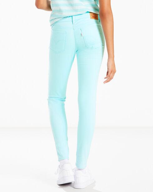 Levi's Women's Aqua 710 Super Skinny Jeans - Skinny , Aqua, hi-res