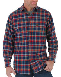 Wrangler Men's Heavyweight Flannel Long Sleeve Shirt, , hi-res