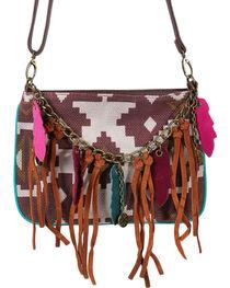 Trenditions Women's Aztec Tassel Crossbody Bag, , hi-res