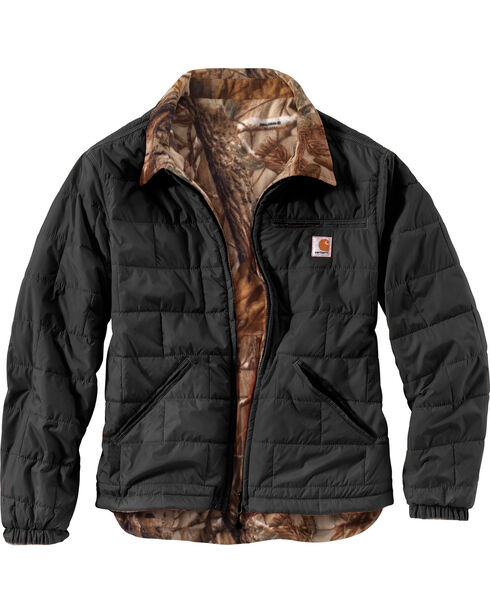 Carhartt Men's Reversible Woodsville Jacket, Black, hi-res