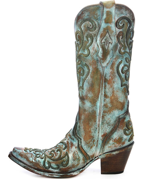 Corral Women's Whip Stitch X Toe Western Boots, Tan, hi-res