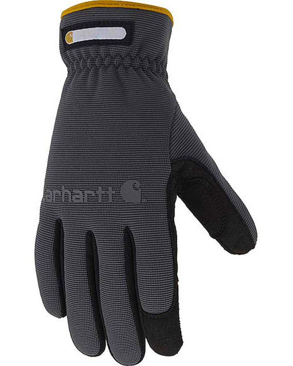 Carhartt Men's Synthetic Suede Quick Flex Performance Gloves, Grey, hi-res