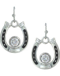 Montana Silversmiths Women's Horseshoe Treasure Earrings, , hi-res