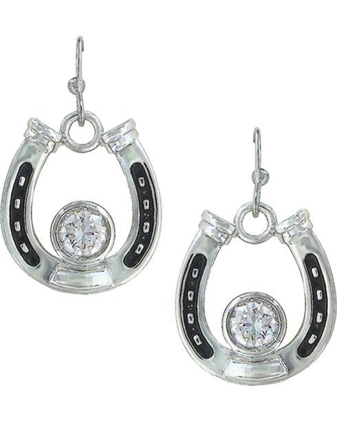 Montana Silversmiths Women's Horseshoe Treasure Earrings, Silver, hi-res