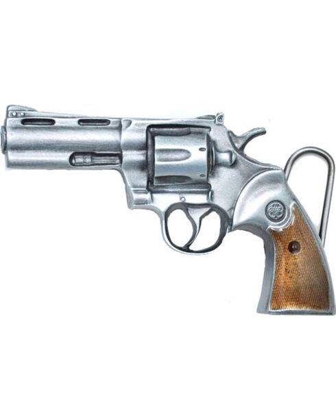 Western Express Men's Silver Magnum Belt Buckle , Silver, hi-res