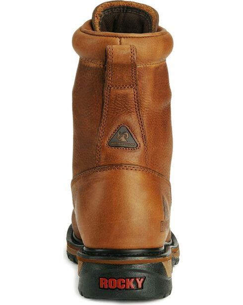 Rocky Men's Ride Waterproof Western Boots, Tan, hi-res