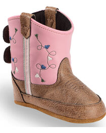 Lil' Boot Barn Infant Girls' Pink Boots - Round Toe, , hi-res