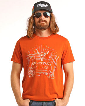 Dale Brisby Men's Radiator Ranch Tee, Orange, hi-res