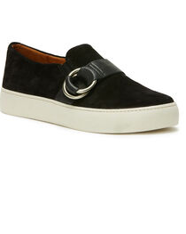 Frye Women's Black Lena Harness Slip On Shoes - Round Toe, , hi-res