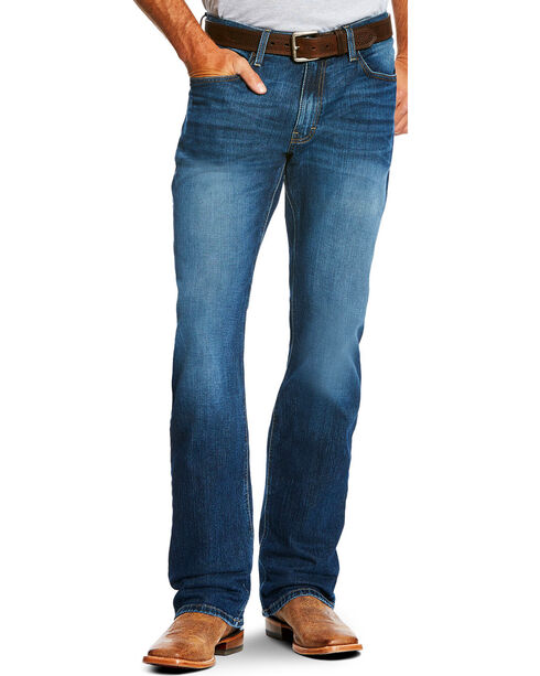 Ariat Men's Blue M4 Legacy Stretch Freeman Jeans - Boot Cut , Blue, hi-res