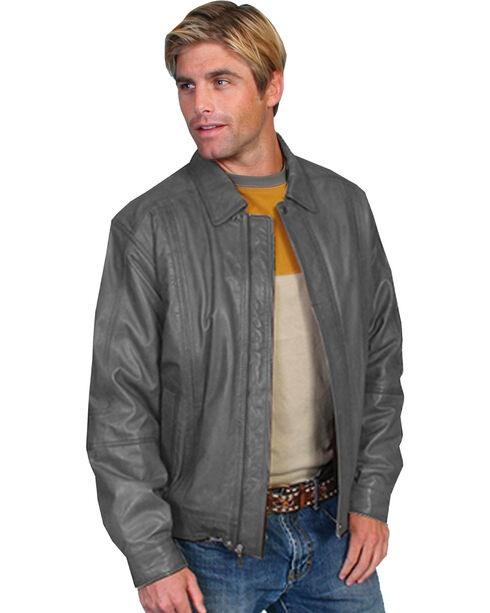 Scully Men's Grey Premium Lambskin Jacket - Tall , Grey, hi-res
