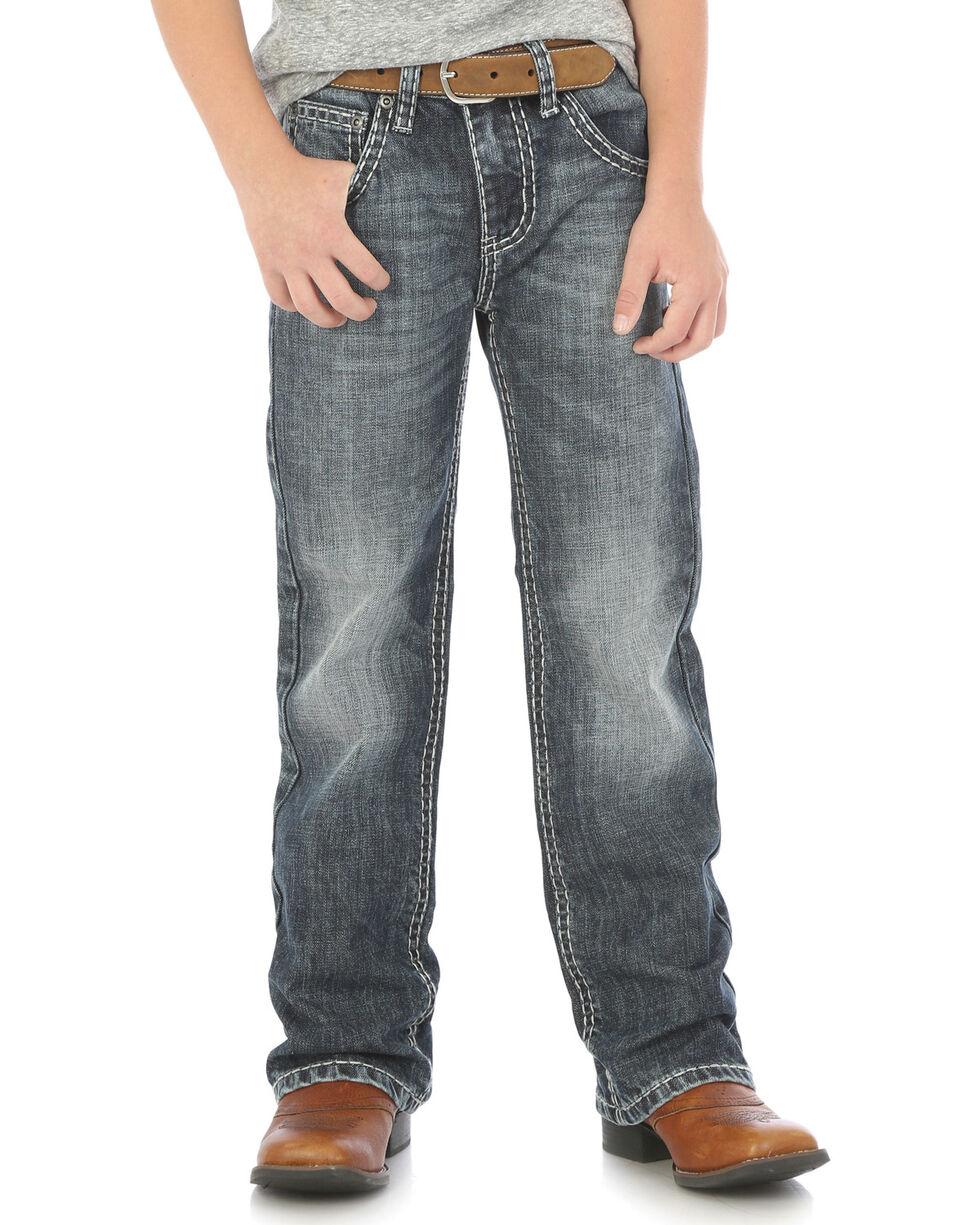 Wrangler Rock 47 Boys' Slim Fit Jeans - Boot Cut , Indigo, hi-res
