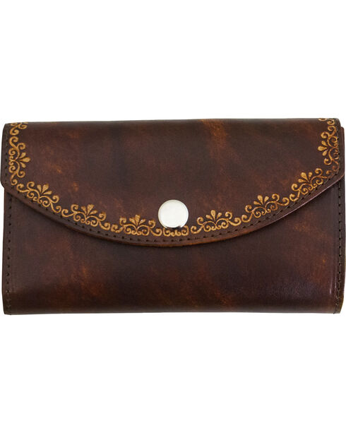 Western Express Women's Leather Organizer Wallet, Brown, hi-res