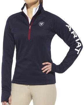 Ariat Women's Navy Tek Team 1/4 Zip Jacket , Navy, hi-res