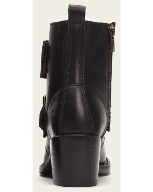 Frye Women's Sabrina Double Buckle Black Leather Boots, Black, hi-res