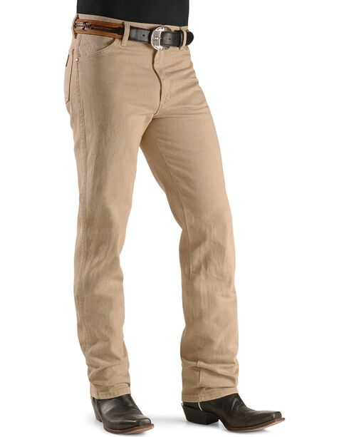 Wrangler Men's Cowboy Cut Original Fit Jeans, Tan, hi-res