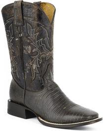 Roper Lizard Print Cowboy Boots - Square Toe, , hi-res