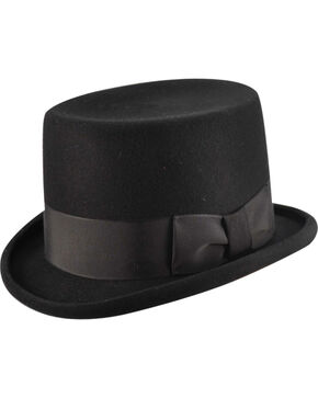 Bailey Western Big Zwey Black Top Hat, Black, hi-res
