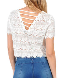 HYFVE Women's Allover Lace Crop Top, , hi-res