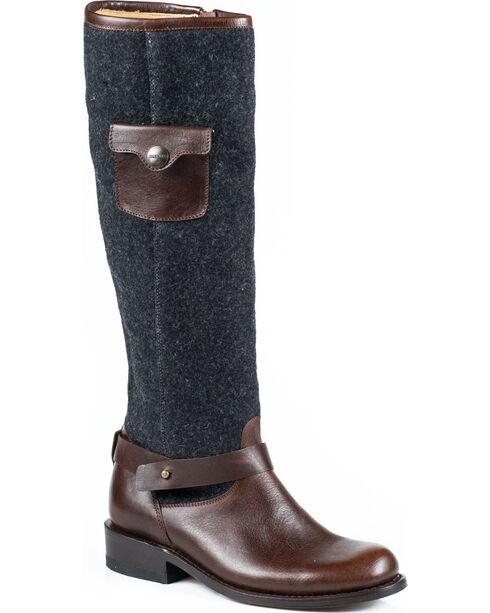 "Stetson Women's 16"" Adriana Fashion Boots, Brown, hi-res"