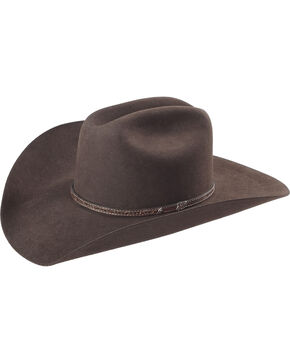 Justin Bent Rail Men's Beardown 7X Cowboy Hat, Brown, hi-res