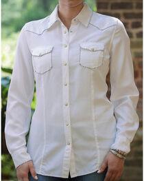 Ryan Michael Women's White Whip Stitch 152 Shirt , , hi-res