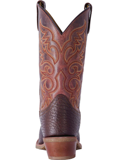 Laredo Men's Brown Merrick Leather Boots - Square Toe , Dark Brown, hi-res