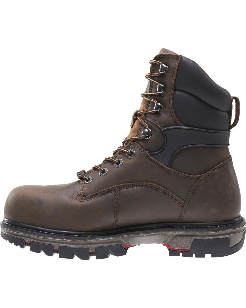 """Wolverine Men's Nation DuraShocks 8"""" Work Boots - Composite Toe, Dark Brown, hi-res"""