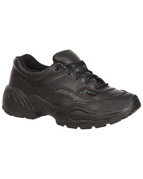 Rocky Women's 911 Athletic Oxford Duty Shoes, Black, hi-res