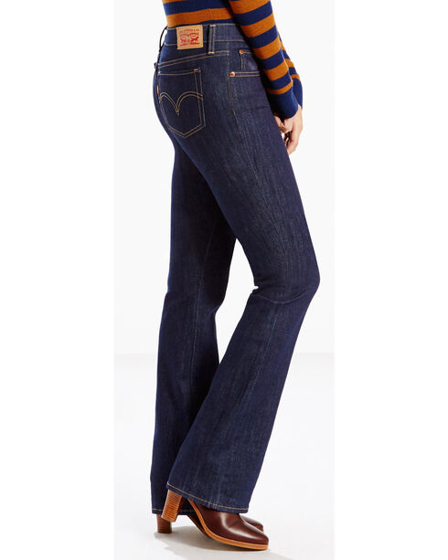 Levi's Women's 415 Classic Dark Grove Jeans - Boot Cut , Dark Blue, hi-res