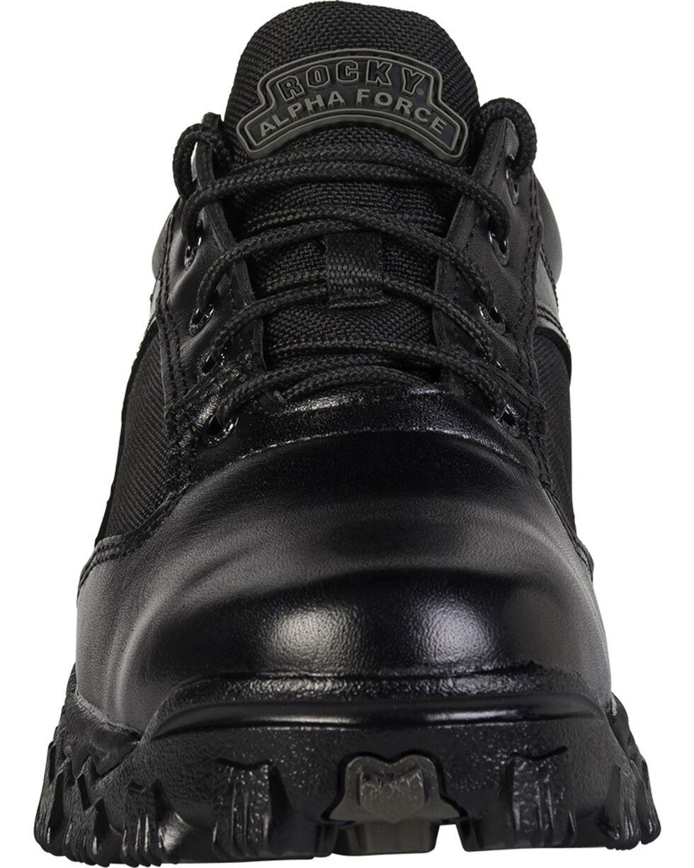 Rocky Men's Alpha Force Oxford Work Shoes, Black, hi-res