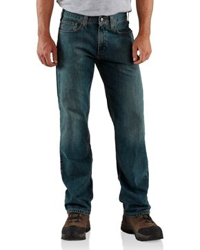 Carhartt Men's Relaxed Straight Jeans, Dark Blue, hi-res