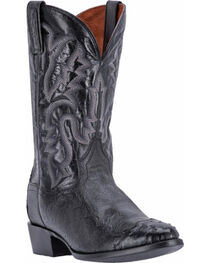 Dan Post Men's Pugh Black Ostrich Western Boots - Round Toe, , hi-res