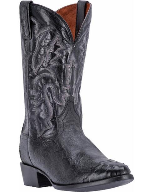 Dan Post Men's Pugh Black Ostrich Western Boots - Round Toe, Black, hi-res