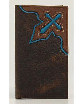 Nocona Cross Inlay Rodeo Wallet, Brown, hi-res