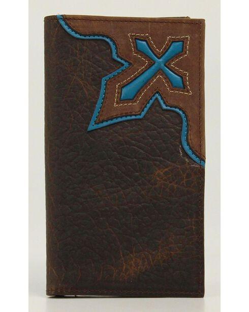 Nocona Cross Inlay Rodeo Wallet, , hi-res