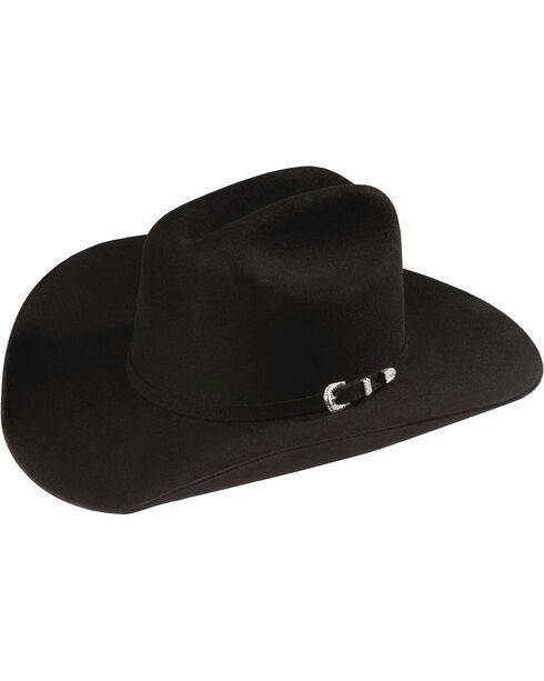 Justin Men's 4X Fur Cody Felt Hat, Black, hi-res