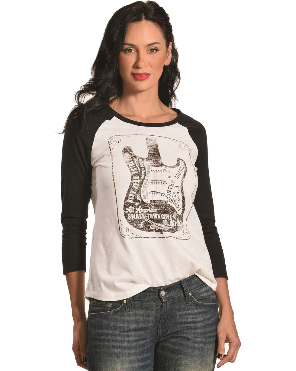 Shyanne® Women's Country Music Long Sleeve Tee, Ivory, hi-res