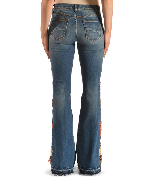 Driftwood Women's Farrah Flare Garden Party Jeans, Blue, hi-res